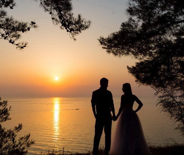 Esküvői kreatív fotózás Görögországban