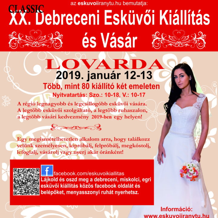 XX. Debreceni Esküvői Kiállítás